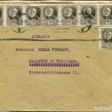 Sellos: 1938 GUERRA CIVIL. REPÚBLICA. CARTA BARCELONA A ALEMANIA.. Lote 199049683