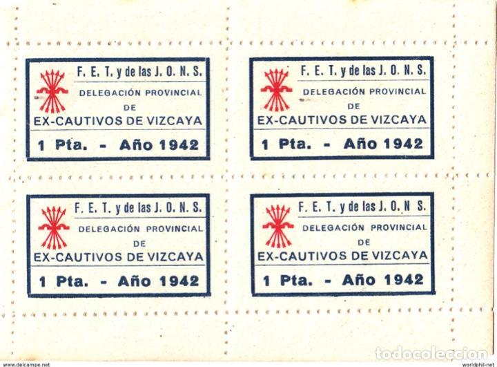 ESPAÑA SPAIN ESPAGNE SPANIEN VIZCAYA BILBAO JONS FET EX CAUTIVOS 1942 (Sellos - España - Guerra Civil - Locales - Nuevos)