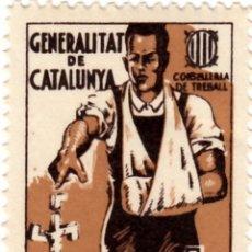 Sellos: ESPAÑA GUERRA CIVIL WAR GENERALITAT CATALUNYA CATALUÑA AJUT ALS MUTILATS GUERRA **. Lote 199059187