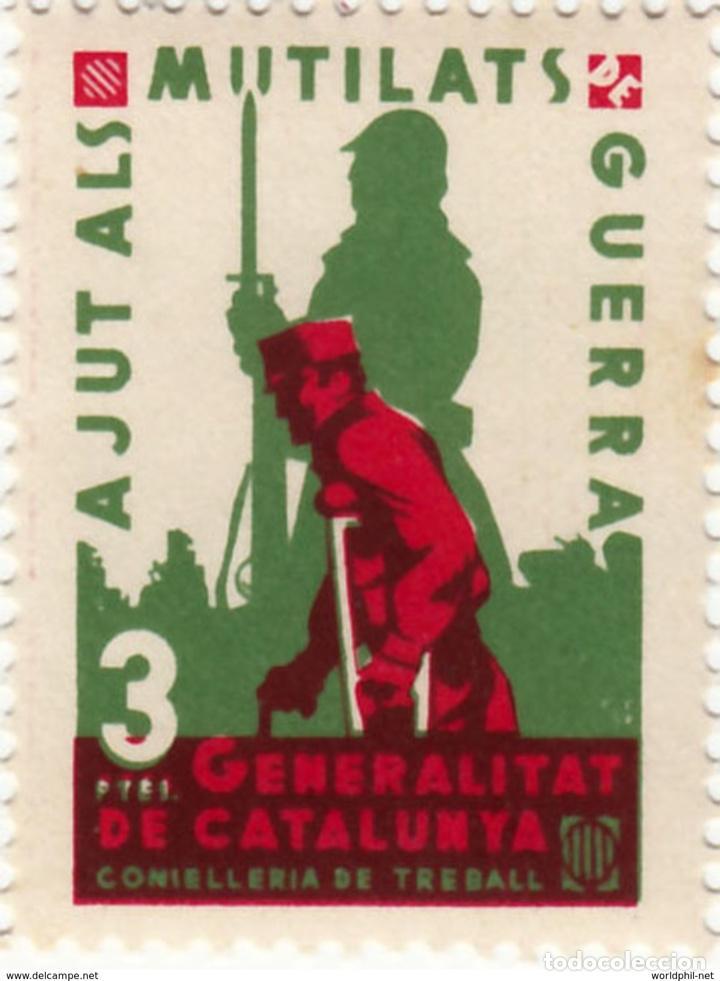 ESPAÑA GUERRA CIVIL WAR GENERALITAT CATALUNYA CATALUÑA AJUT ALS MUTILATS DE GUERRA ** (Sellos - España - Guerra Civil - Locales - Nuevos)