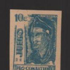 Sellos: PONTEVEDRA, 10 CTSM.- PAPEL OCRE, NUEVO- VER FOTO. Lote 199118595