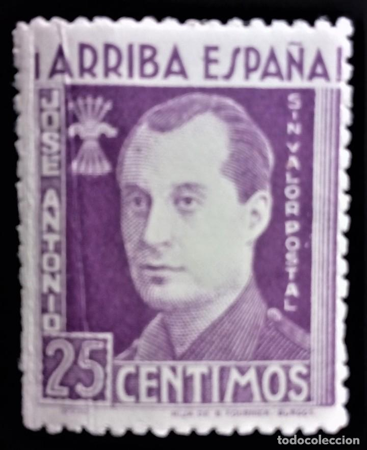BENEFICENCIA PRIMO DE RIVERA IRUJO SIN VALOR POSTAL 25 CTS ** (Sellos - España - Guerra Civil - Beneficencia)