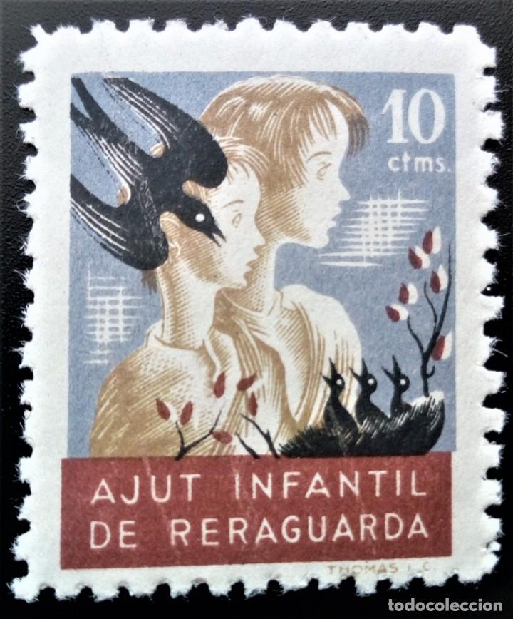 GUERRA CIVIL AYUDA INFANTIL RETAGUARDIA 10 CTS NIÑOS PÁJAROS ** (Sellos - España - Guerra Civil - Locales - Nuevos)