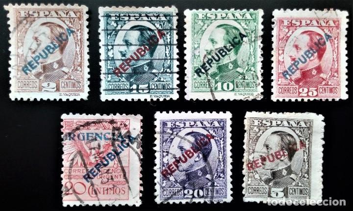 MADRID EMISIONES LOCALES REPUBLICANAS EDIFIL 1 - 8 FALTA 1 (Sellos - España - Guerra Civil - Locales - Usados)