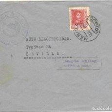 Francobolli: GUERRA CIVIL. SERVICIO DE INTENDENCIA. DE MERIDA A SEVILLA. 1938. Lote 199199146