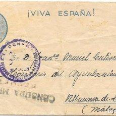 Sellos: GUERRA CIVIL. REGIMIENTO GRANADA Nº 6. DE BELMEZ - CORDOBA A VILLANUEVA DE TAPIA - MALAGA. 1937. Lote 199199666