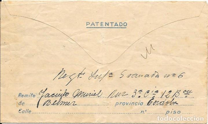 Sellos: GUERRA CIVIL. REGIMIENTO GRANADA Nº 6. DE BELMEZ - CORDOBA A VILLANUEVA DE TAPIA - MALAGA. 1937 - Foto 2 - 199199666