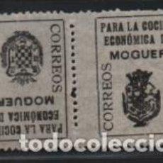 Timbres: MOGUER-HUELVA-, 5 CTS,- PAREJA CAPICUA- BENEFICO- VER FOTO. Lote 199327130