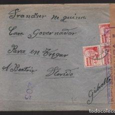 Sellos: HUESCA BATALLON DE CARABINERO- A GIBRALTAR- AL GOBERNADOR CENSURA REPUBLICA ESPAÑOLA--- VER FOTOS. Lote 199453448