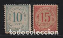 LA CAROLINA-JAEN-- 10 Y 15 CTS.- SELLOS COMERCIALES PRIVADOS- VER FOTO (Sellos - España - Guerra Civil - De 1.936 a 1.939 - Usados)