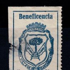 Francobolli: HUELVA BENEFICENCIA VILLA DE MANZANILLA. USADO. ROTURA VISIBLE (220). Lote 199920483
