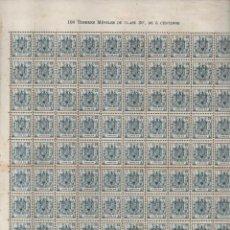 Selos: ESPECIAL MOVIL, 5 CTS- PLIEGO DE 100 SELLOS- NUEVOS, - VER FOTO. Lote 200120125
