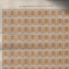 Selos: ESPECIAL MOVIL, 40 CTS- PLIEGO DE 100 SELLOS- NUEVOS, - VER FOTO. Lote 200121168