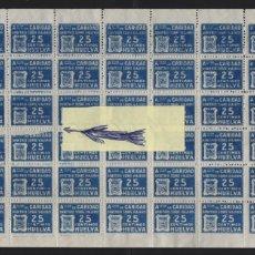 Selos: HUELVA, 25 CTS-VARIEDAD, FALLO IMPRESION-- HOJITA DE 42 SELLOS- ASC. DE CARIDAD-- VER FOTO. Lote 200122492