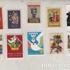 Sellos: LOTE DE 10 VIÑETAS DE LES FESTAS DE LA MERCED DE BARCELONA DISTINTOS AÑOS. Lote 201289786