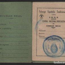 Sellos: CIUDAD REAL - LUCIANA- CARNET- C. N. S. - 2 CUOTAS 1,50 PTAS- CASTAÑO- VER FOTOS. Lote 201920453