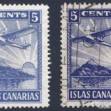Sellos: ISLAS CANARIAS 5 CENTS. (VARIEDAD...COLOR).. Lote 202020048