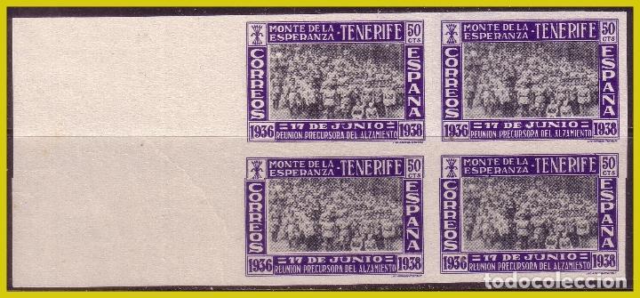 GUERRA CIVIL, SELLOS LOCALES CANARIAS SANTA CRUZ DE TENERIFE, FESOFI Nº 31S B4 (*) LUJO (Sellos - España - Guerra Civil - Locales - Nuevos)