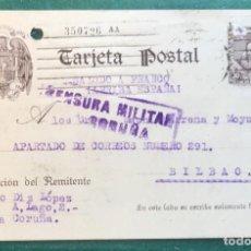 Sellos: CENSURA MILITAR LA CORUÑA. GUERRA CIVIL. Lote 202359002