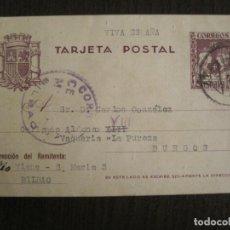 Sellos: BILBAO-MATASELLOS CENSURA MILITAR-SELLO 15 CTS-ENTERO POSTAL-VER FOTOS-(69.013). Lote 202597991