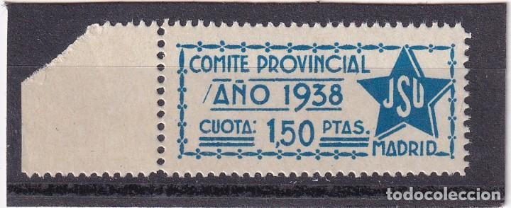 JSU MADRID NO CATALOGADO. TIPO ALLEPUZ 43 MADRID (Sellos - España - Guerra Civil - De 1.936 a 1.939 - Nuevos)