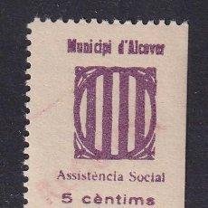 Sellos: ALCOVER. ASSITENCIA SOCIAL. 5 CTS. ALLEPUZ 1. Lote 202635010