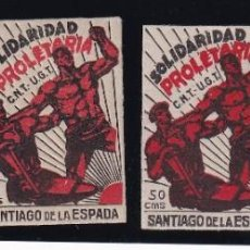Sellos: 4 VALORES SANTIAGO DE LA ESPADA CNT UGT. Lote 202641585