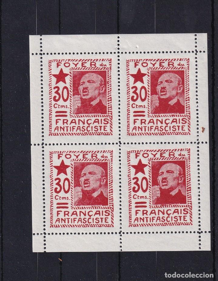 FOYER DU FRANÇAIS ANTIFASCISTE. HB (Sellos - España - Guerra Civil - De 1.936 a 1.939 - Nuevos)