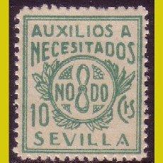 Sellos: GUERRA CIVIL, SELLOS LOCALES SEVILLA, SEVILLA, FESOFI Nº 28A * *. Lote 202884087