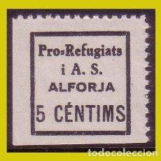 Sellos: GUERRA CIVIL, SELLOS LOCALES TARRAGONA, ALFORJA, FESOFI Nº 1 * *. Lote 202896187