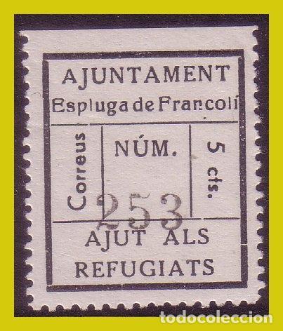 GUERRA CIVIL, SELLOS LOCALES TARRAGONA, ESPLUGA DE FRANCOLI, FESOFI Nº 1 * (Sellos - España - Guerra Civil - Locales - Nuevos)