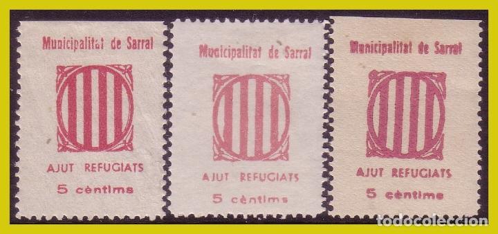 GUERRA CIVIL, SELLOS LOCALES TARRAGONA, SARRAL, FESOFI Nº 8 * VARIEDADES COLOR (Sellos - España - Guerra Civil - Locales - Nuevos)