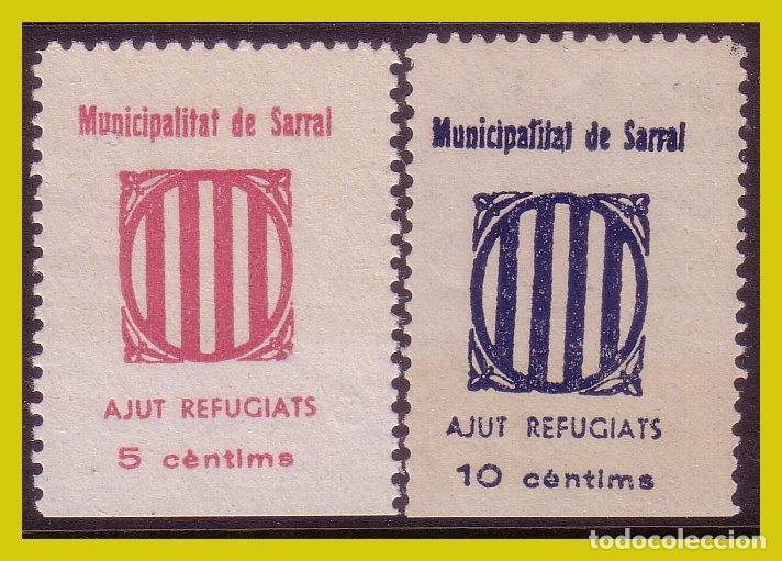 GUERRA CIVIL, SELLOS LOCALES TARRAGONA, SARRAL, FESOFI Nº 8 Y 9 * * (Sellos - España - Guerra Civil - Locales - Nuevos)