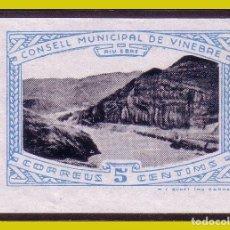 Sellos: GUERRA CIVIL, SELLOS LOCALES TARRAGONA, VINEBRE, FESOFI Nº 5S * *. Lote 202898386