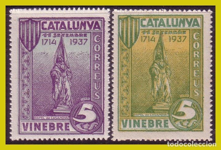GUERRA CIVIL, SELLOS LOCALES TARRAGONA, VINEBRE, FESOFI Nº SH27 Y SH28 * * (Sellos - España - Guerra Civil - Locales - Nuevos)