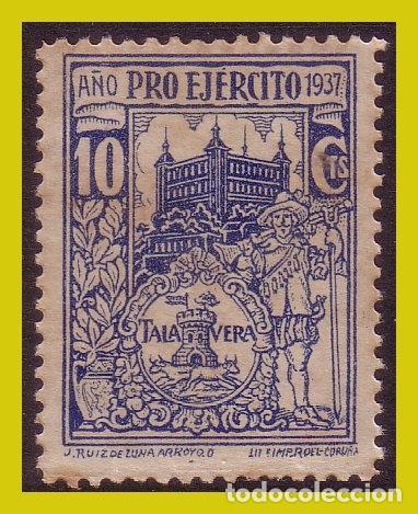 GUERRA CIVIL, SELLOS LOCALES TOLEDO, TALAVERA DE LA REINA, FESOFI Nº 2 (*) (Sellos - España - Guerra Civil - Locales - Nuevos)