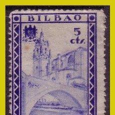 Sellos: GUERRA CIVIL, SELLOS LOCALES VIZKAYA, BILBAO, FESOFI Nº 24 (O). Lote 202900651