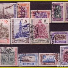 Sellos: GUERRA CIVIL, SELLOS LOCALES ZARAGOZA, ZARAGOZA, FESOFI Nº 47S A 59S (O) PRO SEMINARIO. Lote 202902722
