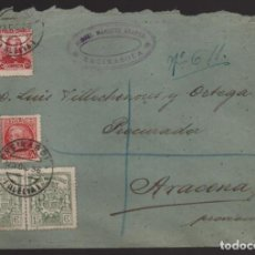 Sellos: ENSINASOLA A ARACENA- HUELVA- SELLOS FISCALES REPUBLICA- VER FOTOS. Lote 202953248
