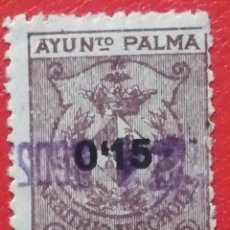 Sellos: SELLO AYUNTAMIENTO DE PALMA, ARBITRIO DE ALCOHOLES 0,15 CTS. Lote 202986052