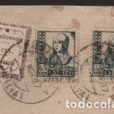 Sellos: ENCINASOLA A ARACENA- SELLO BENEFICENCIA 5 CTS.SOBRE CARTA CIRCULADA, VER FOTOS. Lote 203016938