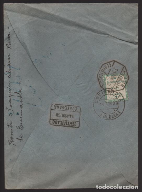 Sellos: ENCINASOLA A ARACENA- SELLO BENEFICENCIA 5 CTS.SOBRE CARTA CIRCULADA, C.M. CORTEGANA-VER FOTOS - Foto 2 - 203017023