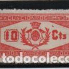 Timbres: MADRID.- 10 CTS,- ROJO- AYUDA REFUGIADOS- NUEVO- VER FOTO. Lote 203189041