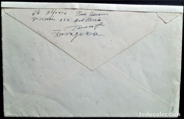 Sellos: GUERRA CIVIL ARTILLERÍA PLANA MAYOR ZARAGOZA TENERIFE CANARIAS ARAGÓN CENSURA MILITAR - Foto 3 - 203501145