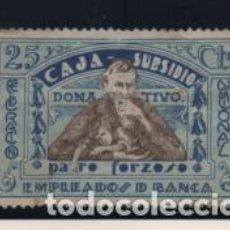 Sellos: EMPLEADOS DE BANCA, 25 CTS,-PARO FORZOSO- FED. NACIONAL- VER FOTO. Lote 203521265