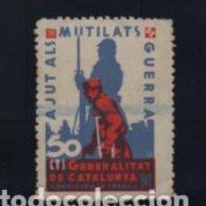 Sellos: GENERALITAT DE CATALUNYA,- 50 CTS.-AJUT MUTILATS DE GUERRA- VER FOTO. Lote 203521405
