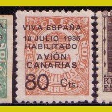 Selos: E. L. PATRIÓTICAS CANARIAS 1936 - 37 EDIFIL Nº 4 A 6 * *. Lote 203811450