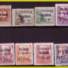 Sellos: E. L. PATRIÓTICAS CANARIAS 1938 EDIFIL Nº 44 A 51 *. Lote 203819565