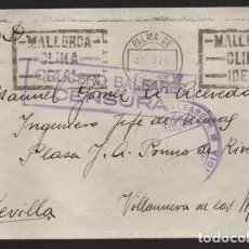 Sellos: CRUCERO BALEARES A SEVILLA,- C.M. Y FRANQUICIA- CRUCEROS BALEARES- VER FOTOS. Lote 203856381