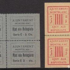 Selos: GUERRA CIVIL - VIÑETAS 2 BLOQUES DE 4 MONTBLANC. Lote 203896047